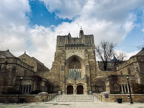 A photo of Sterling Memorial Library, Yale University